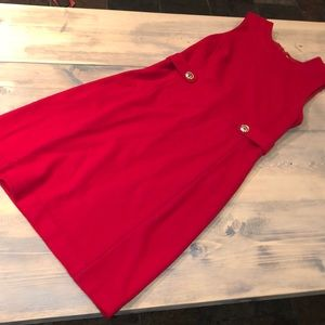 Red and gold Tory Burch wool dress